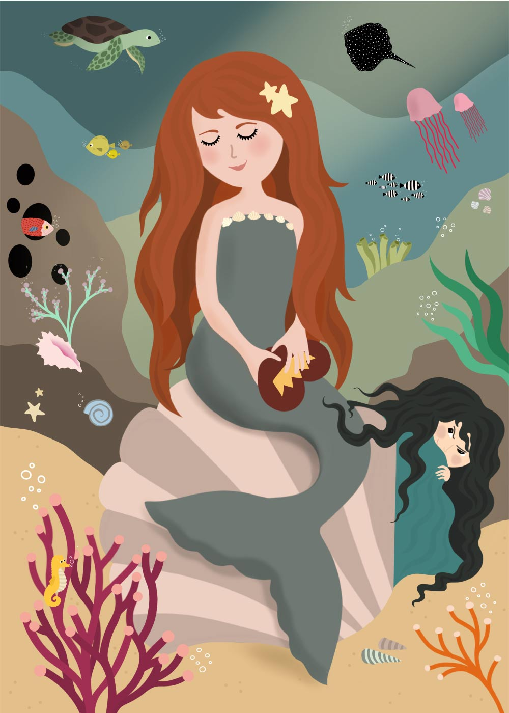 Den lille havfrue - Eventyrplakat