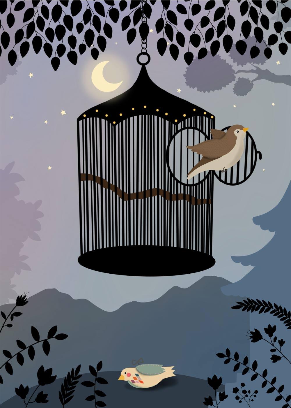 Billede af Nattergalen - Eventyrplakat