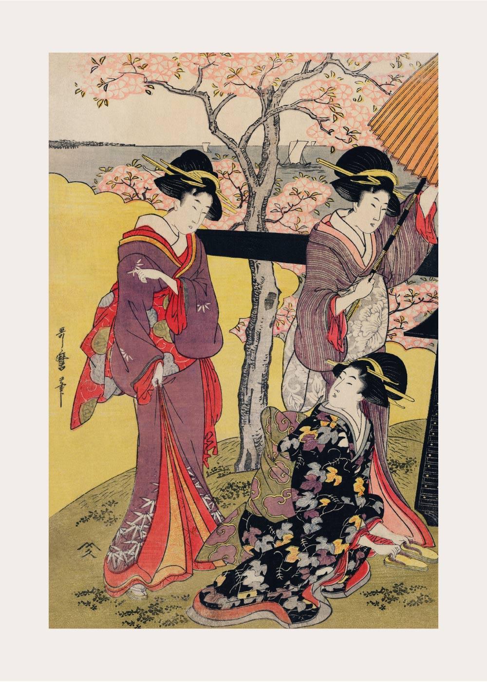 Billede af Cherry blossoms at Gotenyama - Japansk kunstplakat