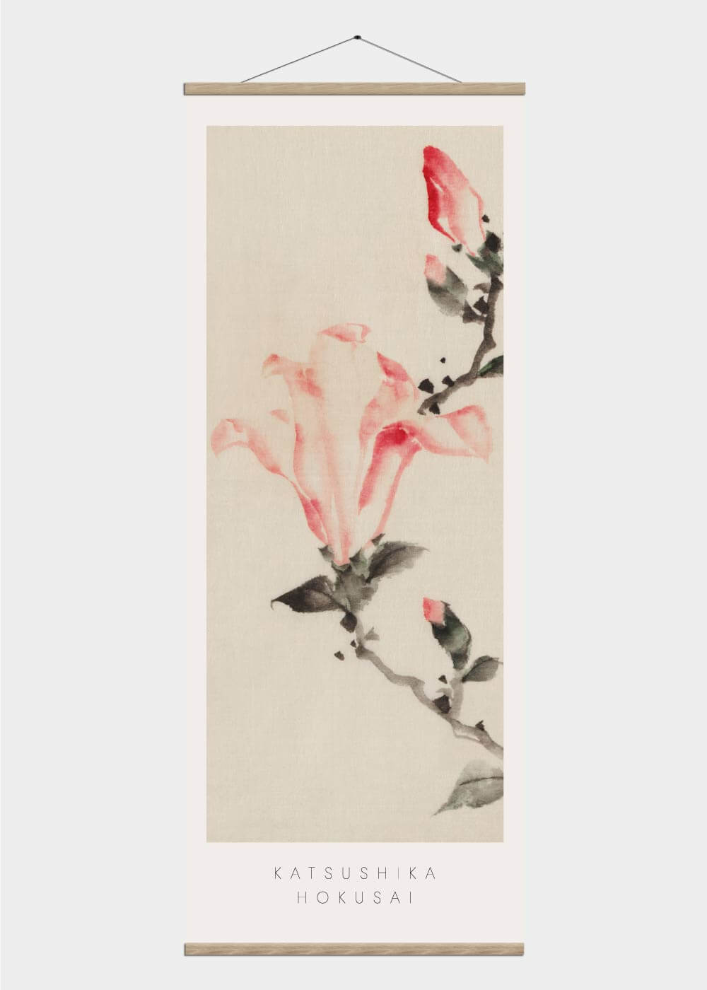 Billede af Pink magnolia - Japansk kunst plakat