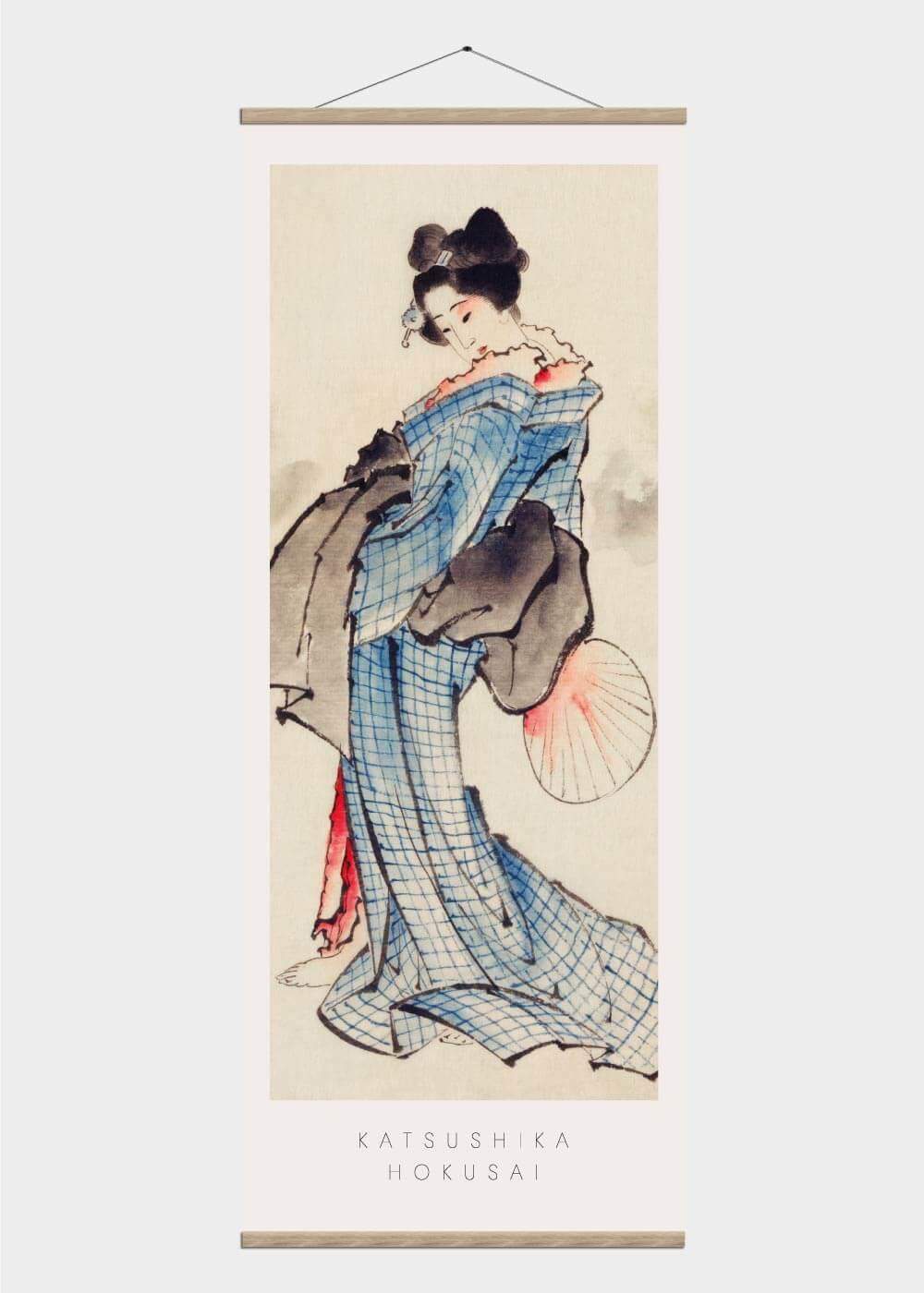 Japanese woman - Japansk kunst plakat
