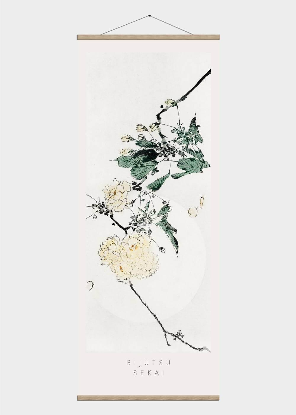 Billede af Japanese cherry blossom - Japansk kunst plakat