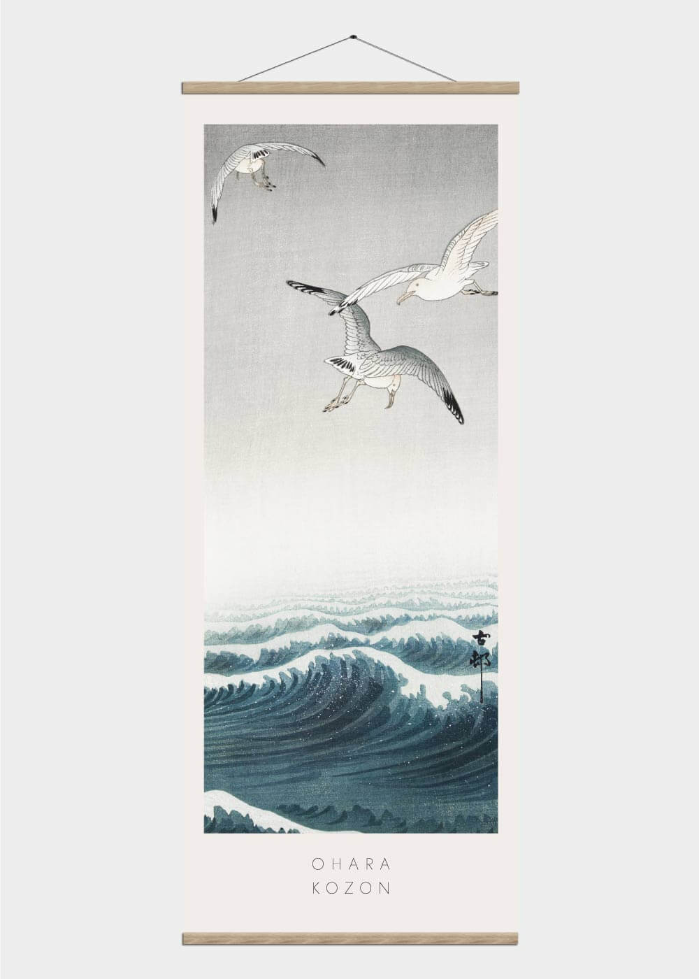 Billede af Three seagulls - Japansk kunst plakat