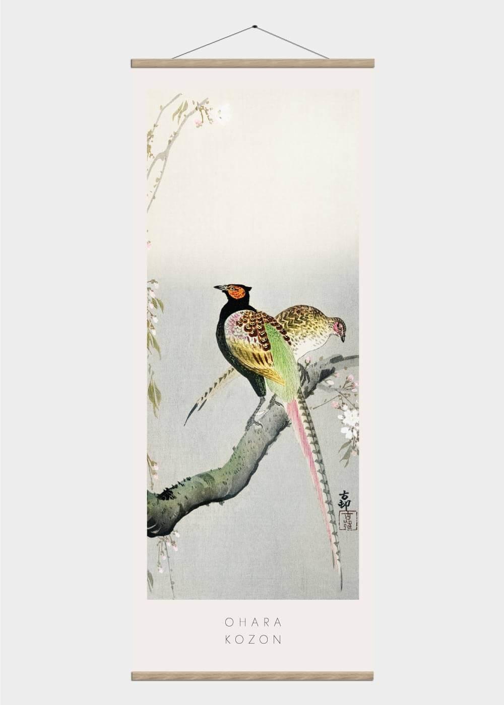 Billede af A couple of pheasants - Japansk kunst plakat
