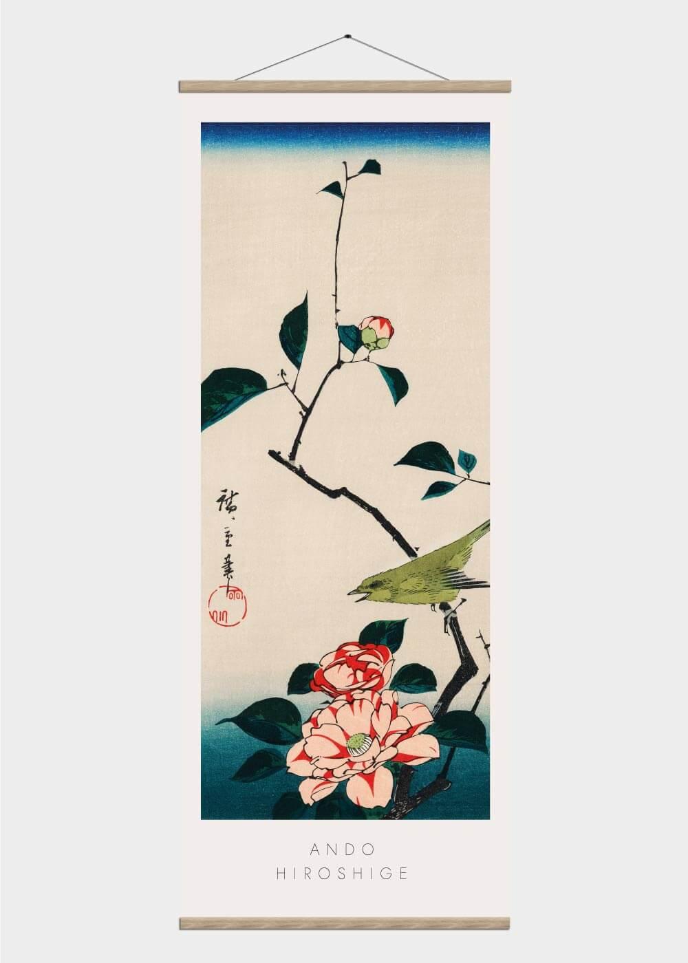 Billede af A japanese nightingale - Japansk kunst plakat