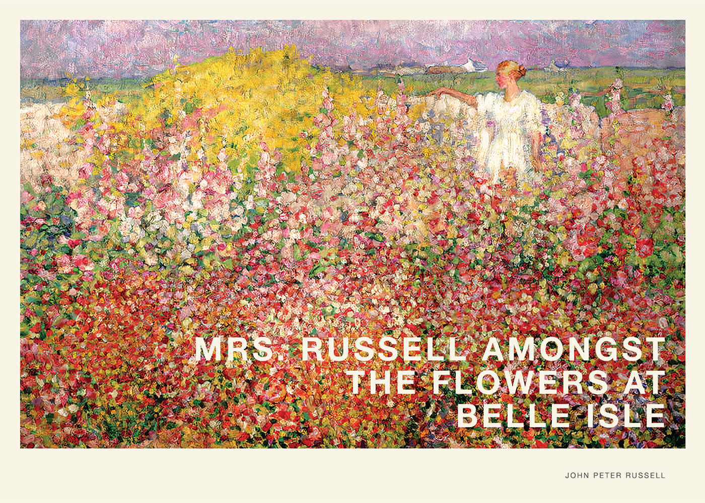 Billede af Mrs. Russell amongst the flowers at Belle Isle - John Peter Russell kunstplakat
