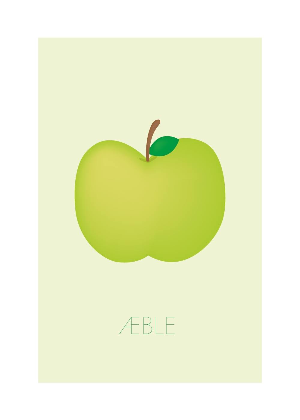 Billede af Æble - Børneplakat